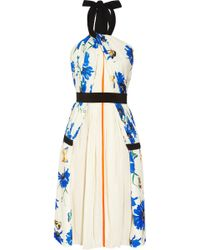 Vionnet Printed Stretchsilk and Cotton Dress - Lyst