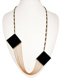 Zelia Horsley Jewellery Equilateral Square Necklace - Lyst