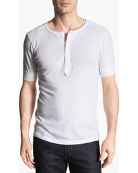 Cotton Citizen Short Sleeve Henley - Lyst