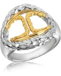 Just Cavalli - Icon Stainless Steel Signature Ring - Lyst