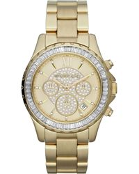 Michael Kors Midsize Golden Stainless Steel Madison Chronograph Glitz Watch - Lyst