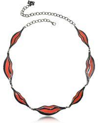 Sonia Rykiel | Double Face Colour Block Lips Long Necklace | Lyst