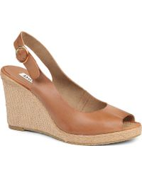 Dune Gleeful Leather Wedge Sandals - For Women - Lyst