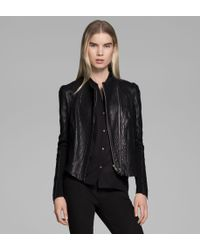 Helmut Lang Blistered Leather Jacket - Lyst