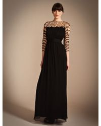 Temperley London Long Wave Embroidery Dress - Lyst