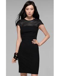 Theory Jada CK Leather Combo Dress - Lyst