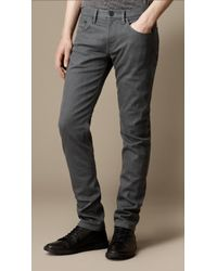Burberry Shoreditch Resinated Skinny Fit Jeans - Lyst