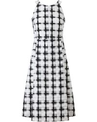 Marni Checked Cotton and Organza Dress - Lyst