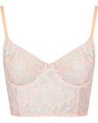 Topshop Fluro Corded Lace Bralet - Lyst