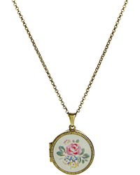 Cath Kidston - Floral Locket Necklace - Lyst