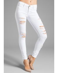 Frame Denim Le Colored Ripped - Lyst