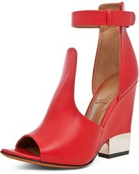 Givenchy Podium Ankle Strap Sandal in Red - Lyst