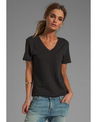 Rag & Bone Jackson V Tee in Black - Lyst