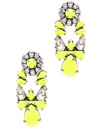 Shourouk Mia Earrings in Metallicsyellowneon - Lyst