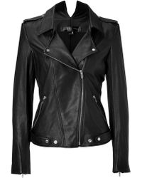 Theyskens' Theory Leather Jiker Jacket in Black black - Lyst