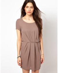 American Vintage Flippy Dress brown - Lyst