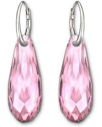 Swarovski - Pure Crystal Drop Earrings - Lyst