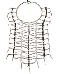 Clemmie Watson - Bars Spikes Necklace - Lyst