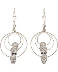 Clemmie Watson - Triple Skull Earrings - Lyst