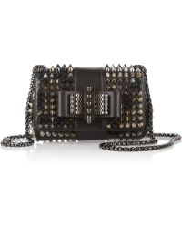 Christian Louboutin Sweet Charity Mini Studded Leather Shoulder Bag - Lyst