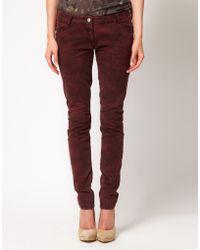 IRO Iro Marble Skinny Jeans with Zip Detail - Lyst