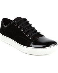 Lanvin Lowtop Trainers Black - Lyst