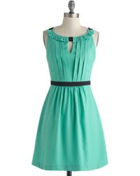 ModCloth Wouldnt You Verdigris Dress - Lyst