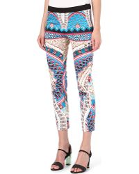 Roberto Cavalli Printed Trousers - Lyst