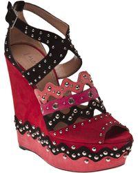 Alaïa Chamois Cloutte Color Sandal - Lyst