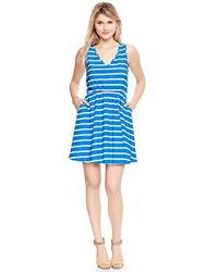Gap Printed Vneck Dress - Lyst