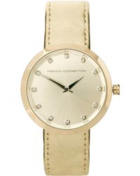 French Connection -  Strap Watch with Stone Set Dial - Lyst