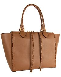 Michael Kors Miranda Large Tote with Leather Stitch - Lyst