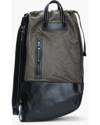 Neil Barrett Black and Olive Leather Luanda Sack - Lyst