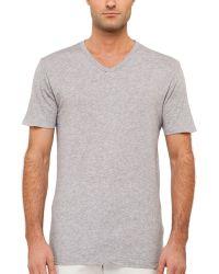 Splendid Mills Jersey V-Neck T-Shirt - Lyst