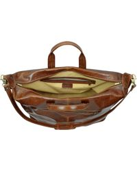 Chiarugi - Large Brown Italian Leather Carry All Travel Bag - Lyst