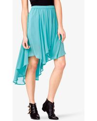 Forever 21 Chiffon High-low Skirt - Lyst