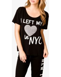 Forever 21 I Left My Heart in Nyc Pj Top - Lyst