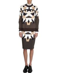 Givenchy Geometric Patchwork Skirt - Lyst