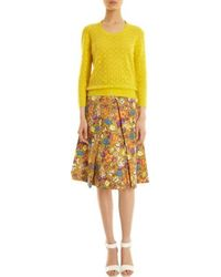 Marc Jacobs Floral and Butterfly Print Skirt - Lyst