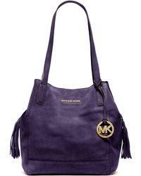 Michael Kors Large Ashbury Suede Grab Bag - Lyst