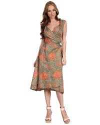 Vivienne Westwood Gold Label Wrap Dress floral - Lyst