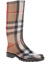 Burberry Brit - House Check Rain Boot - Lyst