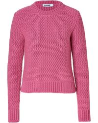 Jil Sander Cashmere Chunky Knit Pullover In Pink - Lyst