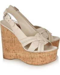 Kors by Michael Kors - Jazlyn Leather Wedge Sandals - Lyst