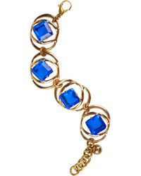 Lulu Frost Althea Blue Gold- Plated Crystal Bracelet - Lyst