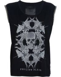 Philipp Plein Skull and Unicorn Printed Tshirt - Lyst
