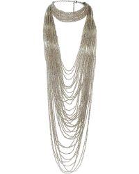 Topshop Mega Seedbead Multirow Necklace - Lyst