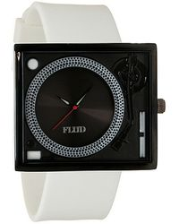 Flud Watches - The Tableturns Watch in White and Black - Lyst