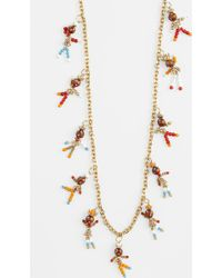 Tory Burch Long Charm Station Necklace - Lyst