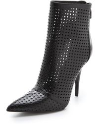 Alexander Wang Shelly Perforated Booties - Lyst